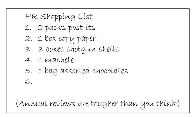 HR Shopping List
